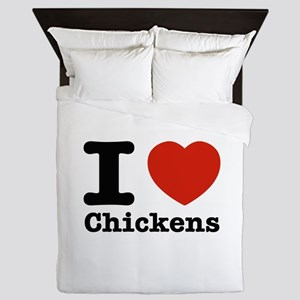 I Love Chicken Queen Duvet